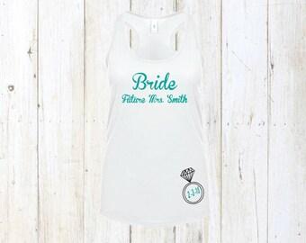 Bride gift, bride to be tank, bride shirt, bride tank top, bachelorette party shirts