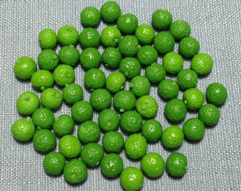 20 Miniature Lemon Lime Fruit Clay Polymer Citron Limes Fruits Supply Cute Little Small Dollhouse Lemons Green Food Jewelry Display 1/12