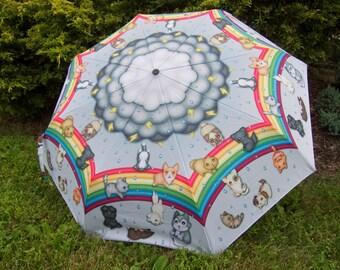 Raining Cats and Dogs Stick Umbrella