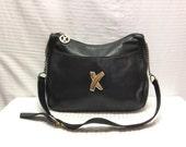 Paloma Picasso Black Leather purse,, Bag, Bags ,Purses, Shoulder Bag