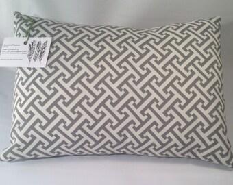 Gray & White Geometrical Pillow