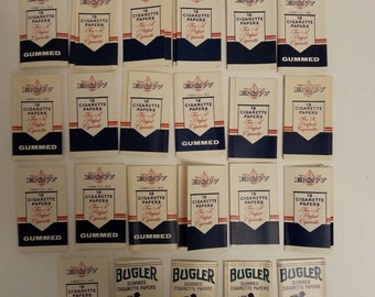 Free Shipping!! Vintage Cigarette Papers Lot Of 23 B&W and Bugler