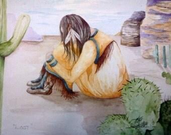 Lost 9x10 Original Watercolor Painting by Kim Soster Metier Art Gallery