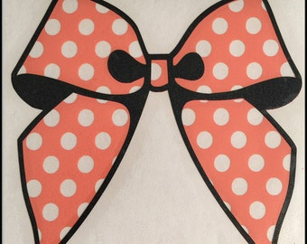 Polka Dot Bow Vinyl Decal! Perfect for tumblers, laptops, windows, planners, etc..
