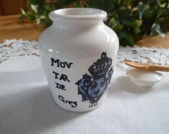 Moustarde/Grey/Grey poupon/Jar/Region/France/Vintage