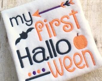 Halloween Applique - First Halloween Embroidery - Embroidery Saying - Applique Design - Embroidery Design - Halloween Embroidery -