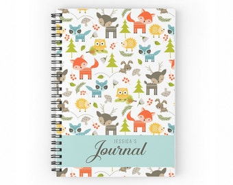 Cute Deer Personalised Kid's Journal, Cute Notebook, Personalised Notebook Cover, Children Gift, Gift for Kids, 6 x 8 inches (SKU: PJC003)