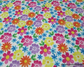 Flannel Fabric - Watercolor Floral - 1 yard - 100% Cotton Flannel