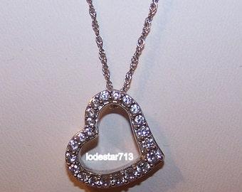 Sterling Heart Pendant CZ'z Sterling Chain