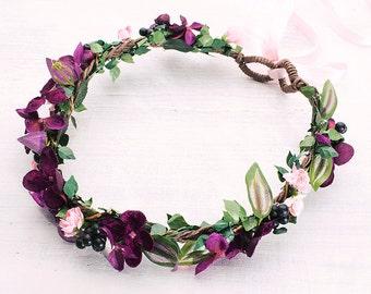 Flowercrown purple lilac