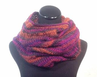 Tropical Stripe Infinity Knit Scarf