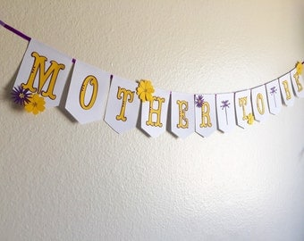 MOTHER TO BE banner