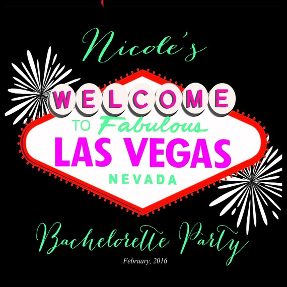 Las Vegas Destination Wedding Gift Bags : Custom Las Vegas Bachelorette Party Label for Welcome Bag, hotel ...