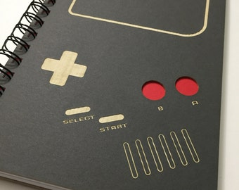 Video Game Laser Cut Notebook Journal (Gray)