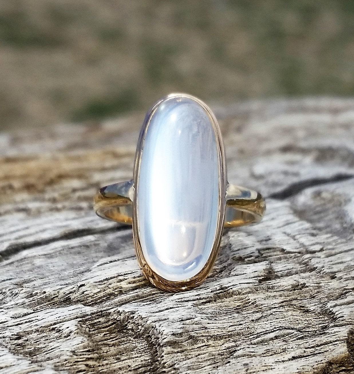 antique moonstone unique engagement ring by