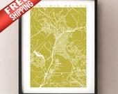 San Luis Obispo Map Print - California Poster
