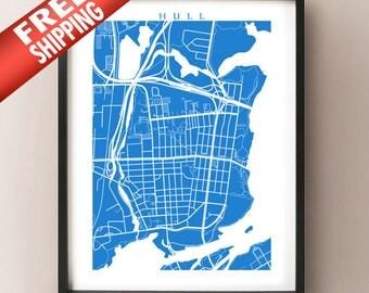 Hull - Gatineau Map Print