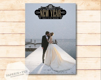 New Year // Holiday Photo Card