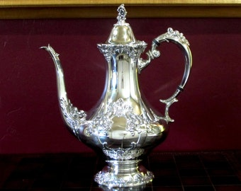 King Francis Silver Plated Coffee Pot by Reed & Barton, Silverplate
