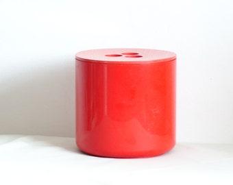Retro Orange Seventies Ice Bucket, Retro Barware Ice Bucket, Crayonne Ice Bucket