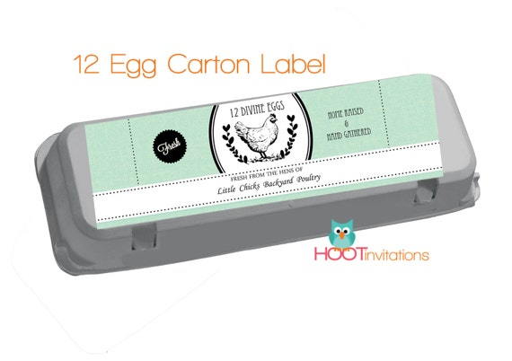Baby blue egg carton labels to print at home one dozen 12 for Design your own egg boxes