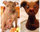 Personalized Polymer Clay Dog