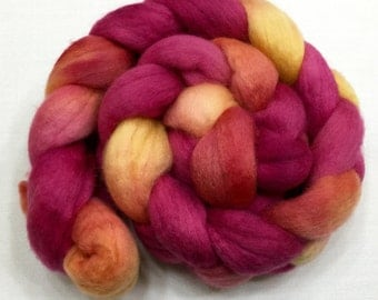 BFL, 3.8oz, Wool, Fiber, Roving, felting, Hand Dyed, Spinning, Spindle, Long Wool, 917