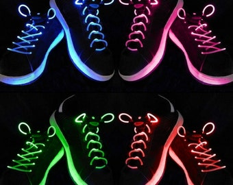 Light Up Shoe Laces with 2032 Lithium Battery - Glow Laces - Light Up Laces - Halloween - New Years - Rave Clothing, Rave Lights