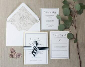 Classic Floral Semi-Custom Wedding Suite