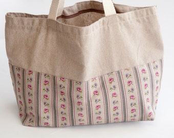 Tote Bag Cotton and Flowers