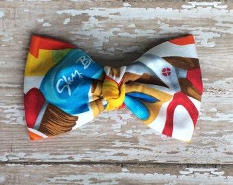 Back to school bowtie, clip on bowtie, little boy bowtie, toddler bowtie