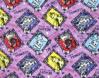 Disney Princess Sketch Fabric From Springs Creative