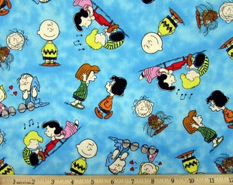 Charlie Brown Happiness is Peanuts Fabric From Quilting Treasures By the Yard
