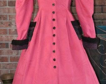 Edwardian Coat Bustle Jacket Costume Victorian Steampunk 1890's Hoop Crinoline