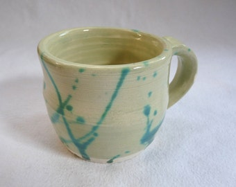 Celadon Mug with Blue-Green Accents