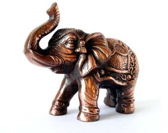 Elephant Statue Home Decor Bronze