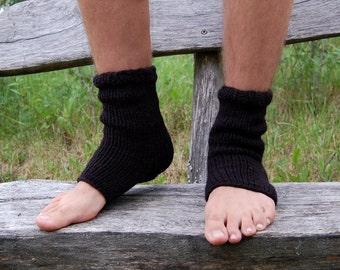 Men's  Pedicure Socks, Knitted Toeless Socks, Flip Flop Socks,  Hand Knit Socks for Pedicure