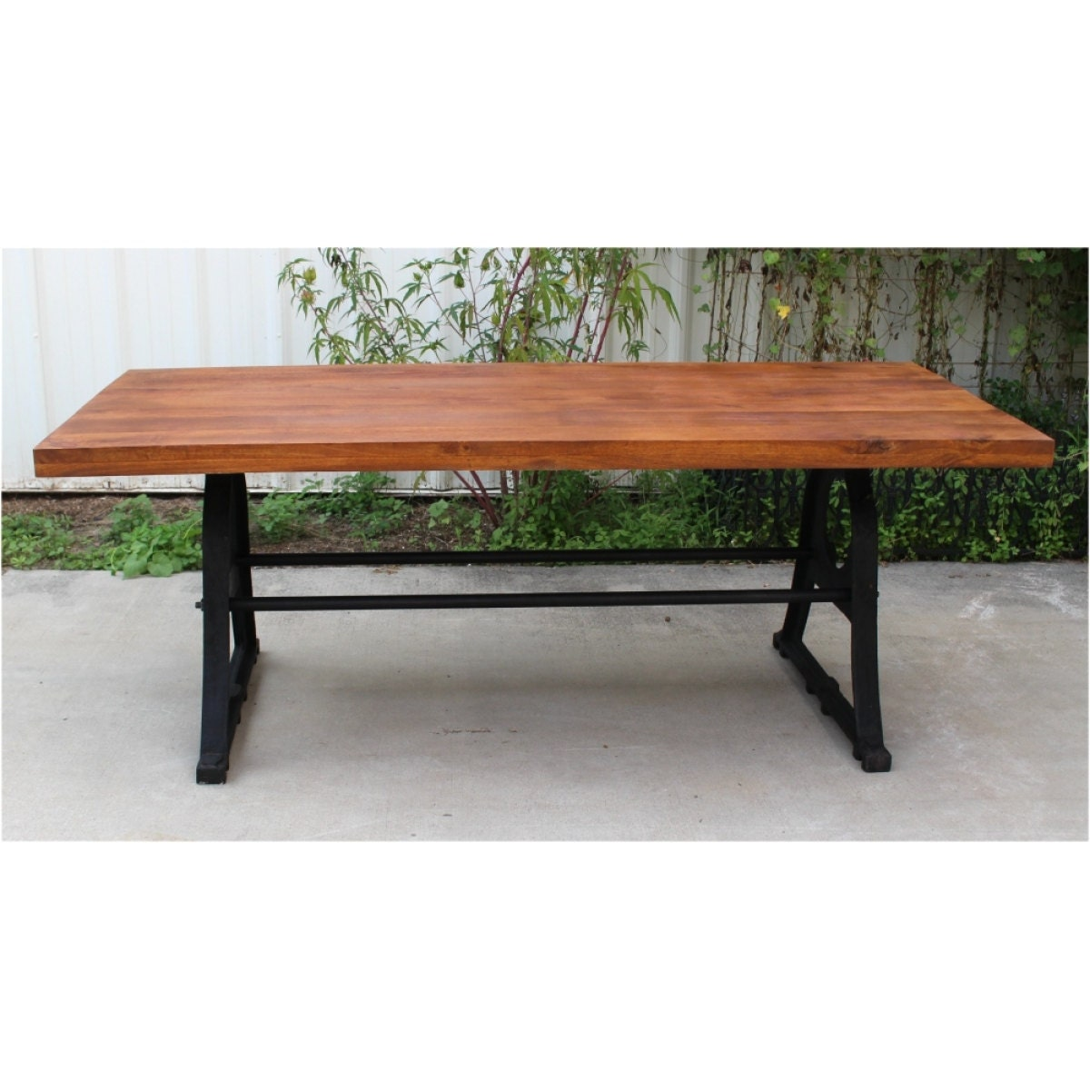 Vintage Industrial Conference Kitchen Dining Room Table Cast
