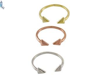 Double Arrow Adjustable Ring, Arrow Ring, Sterling Arrow Ring, Gold Plated Arrow Ring, Rose Gold Plated Arrow Ring, Adjustable Ring, SR245