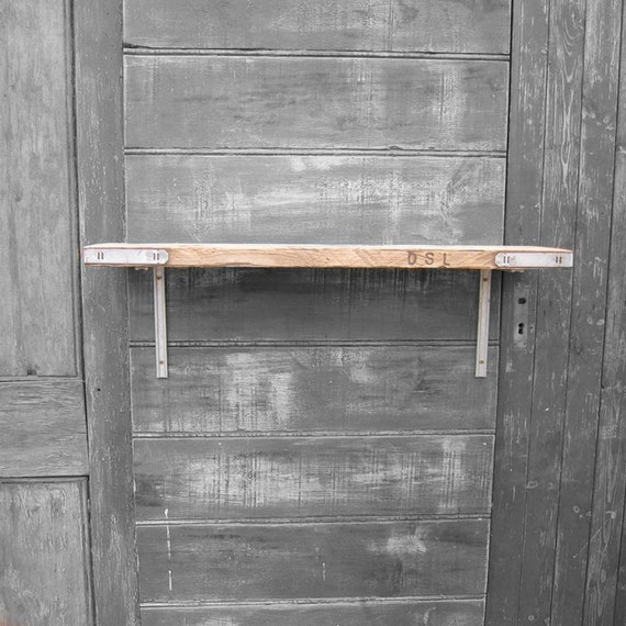 Reclaimed Pine Scaffold Board Shelf - Up-Cycled Wooden Planks - Making Great Storage