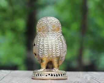 Large Vintage Brass Owl / Vintage Large Brass Owl / Brass Owl / Large Owl Figurine / Beautiful Owl / Large Owl / Detailed Brass Owl