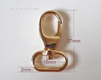 20pcs 1.3 1.6 2 cm Light golden Brushed brass Silvery Gunmetal small metal swivel snap hooks swivel hooks swivel clasp lobster buckle