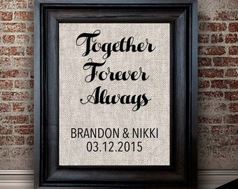 2nd Anniversary Cotton | Personalized Cotton Print | Announcements, Weddings, Anniversaries Gifts | TOGETHER FOREVER