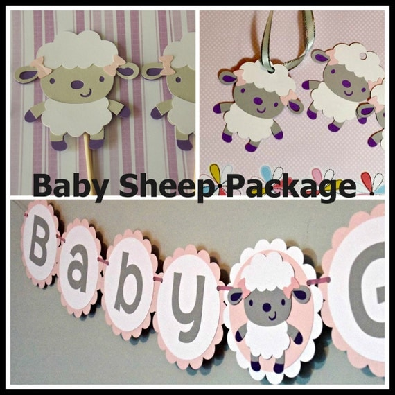 baby sheep decorations package sheep banner baby banner shower