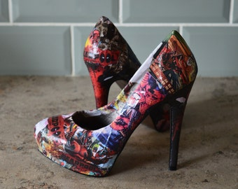 Deadpool Comic Book Heels