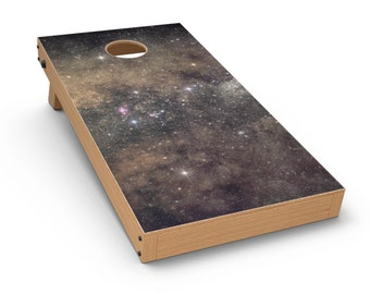 Gold Aura Space - Cornhole Board Skin Kit