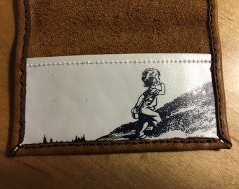 Leather Blueberries for Sal Folding Cardholder Wallet