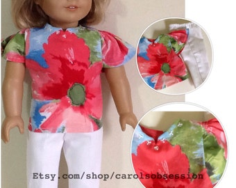 """Gymboree Burst Of Spring Outfit Reconstructed to fit 18"""" American Girl Doll"""
