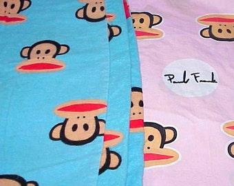 2 Vintage Paul FRANK Lounge/PJ PANTS 1 Pink for Her 1 Blue for Him