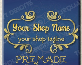 Gold Theme - Etsy Banner and New Etsy Cover with Facebook Cover Included Full Shop Graphics Set